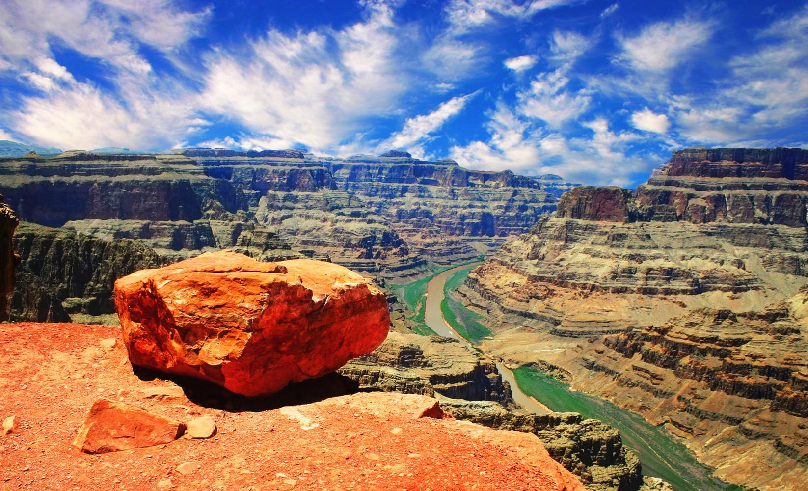 美國大峽谷西峽一日游(巴士+門票+雙語導遊)