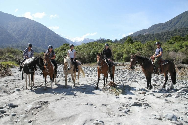 Fox Glacier RIVER TO SEA TREK Full Day Horse Trek