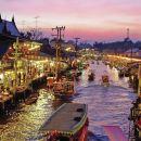 泰國曼谷丹嫩沙水上市場博物館+美功鐵道市場+唐人街+Asiatique碼頭夜市一日遊(可 VIP 專車專導/大皇宮/安帕瓦/上門接)