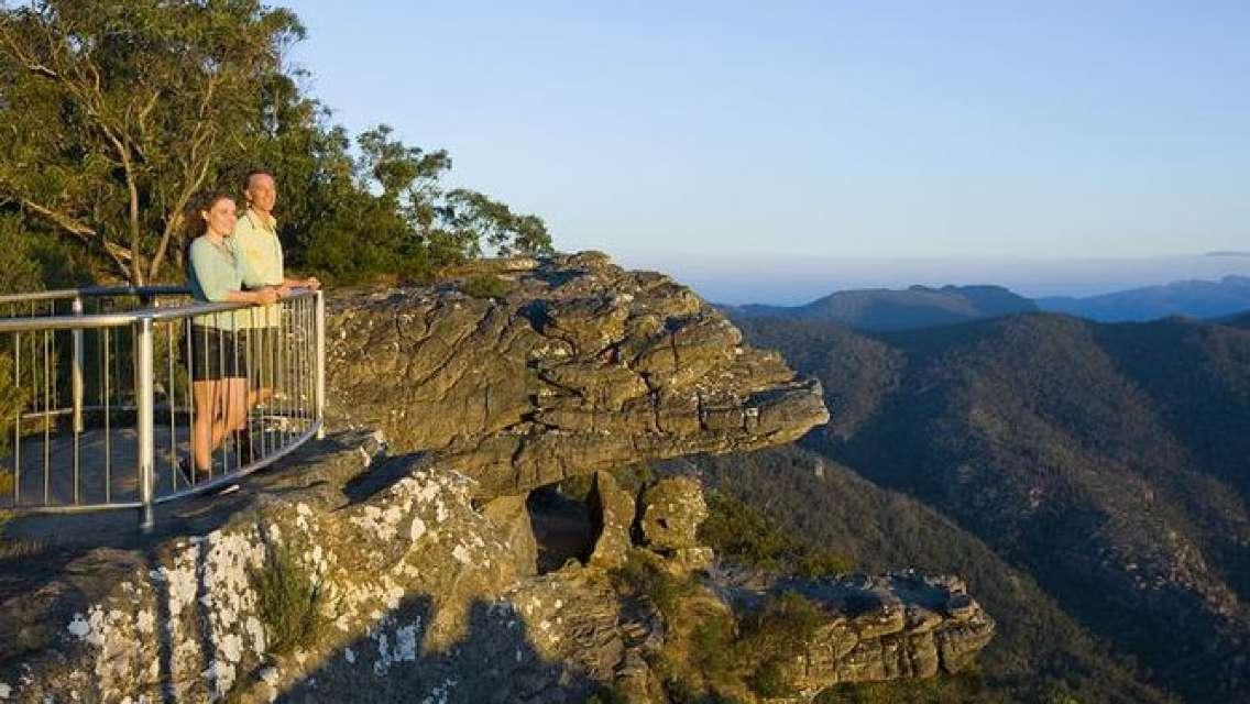 Grampians National Park and Kangaroos visiting MacKenzie Falls from Melbourne