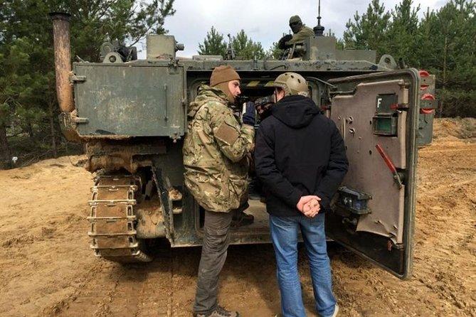 Military tank's driving in Vilnius