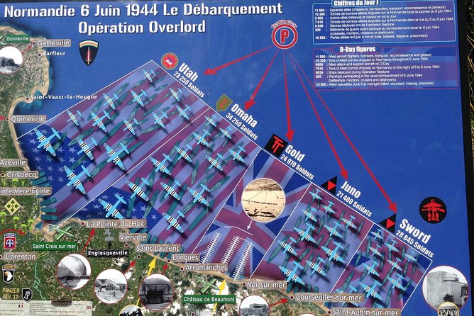D-Day Normandy Landing Beaches Private Day Trip from Paris