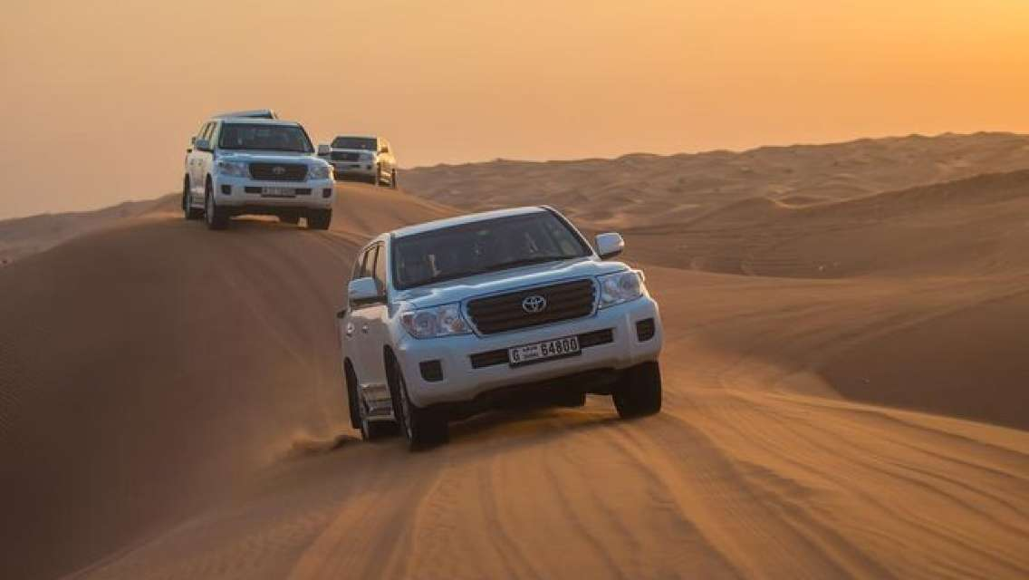 Dubai Desert Safari with Dune Bashing,BBQ, Belly Dances