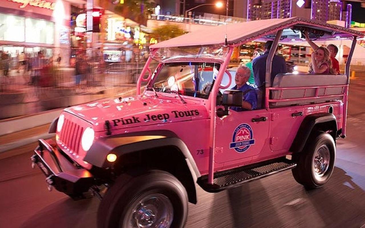 美國拉斯維加斯拉斯維加斯大道一日遊(粉紅吉普之旅  拉斯維加斯市區游2人起訂)