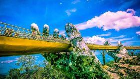 越南岘港巴拿山+巴那山缆车+网红佛手金桥一日游【踏青春游优选+市区接送+可选城堡自助餐】