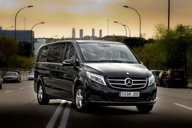 Departure Private Transfer Copenhagen to Copenhagen Port in Luxury Van