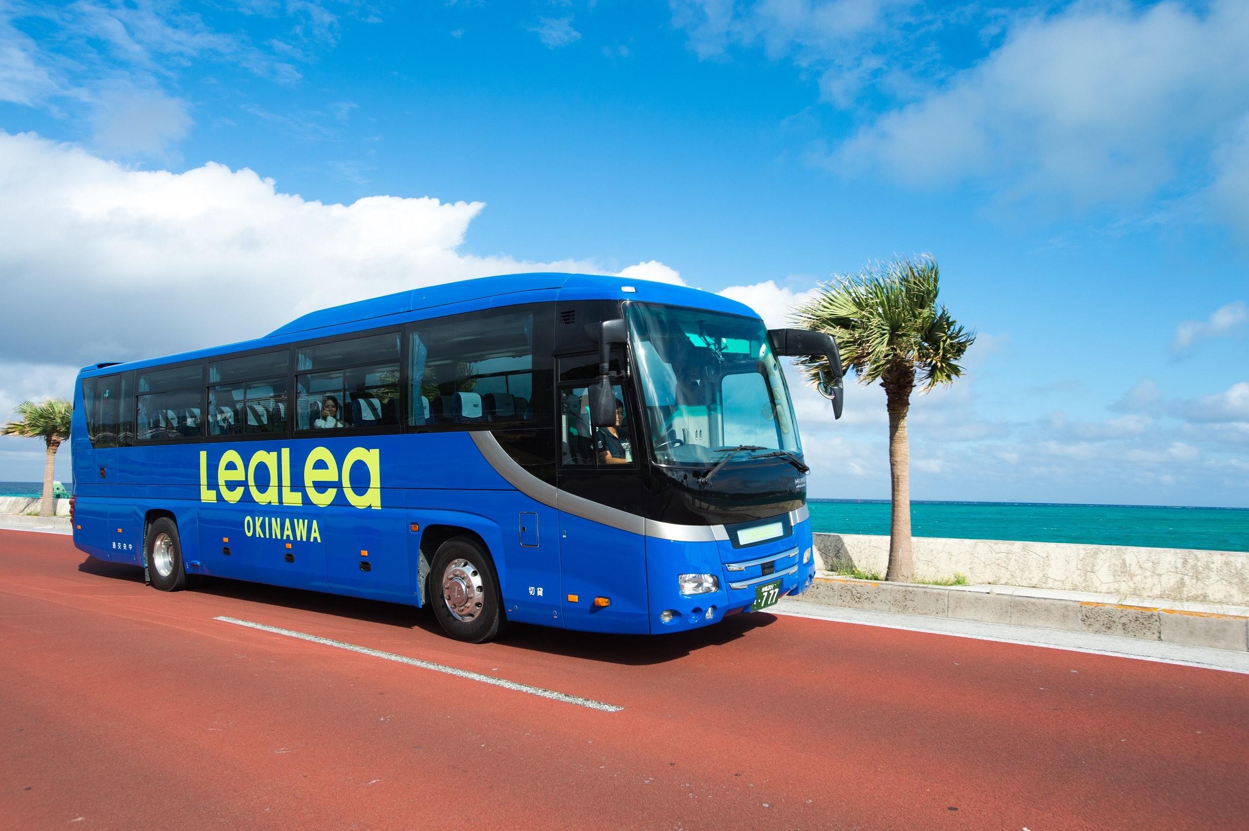 【沖繩接駁巴士】那霸市內往返瀨長島、美國村 LeaLea OKINAWA 巴士