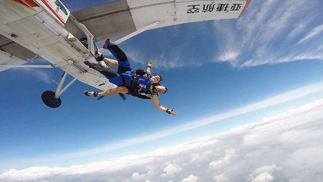 【新奇玩乐】云浮罗定机场鹰飞跳伞俱乐部跳伞体验【高空俯瞰+60秒的自由落体】
