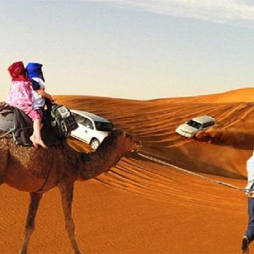 Dubai Evening Desert Safari Tour with Hotel Transfer, Camel Ride & BBQ Dinner