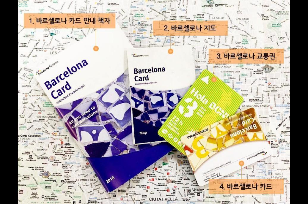 바르셀로나 카드 (대중교통 무료, 주요 관광지 할인 입장)