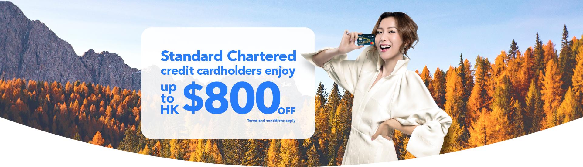 Trip.com Hong Kong Standard Chartered Bank promo code