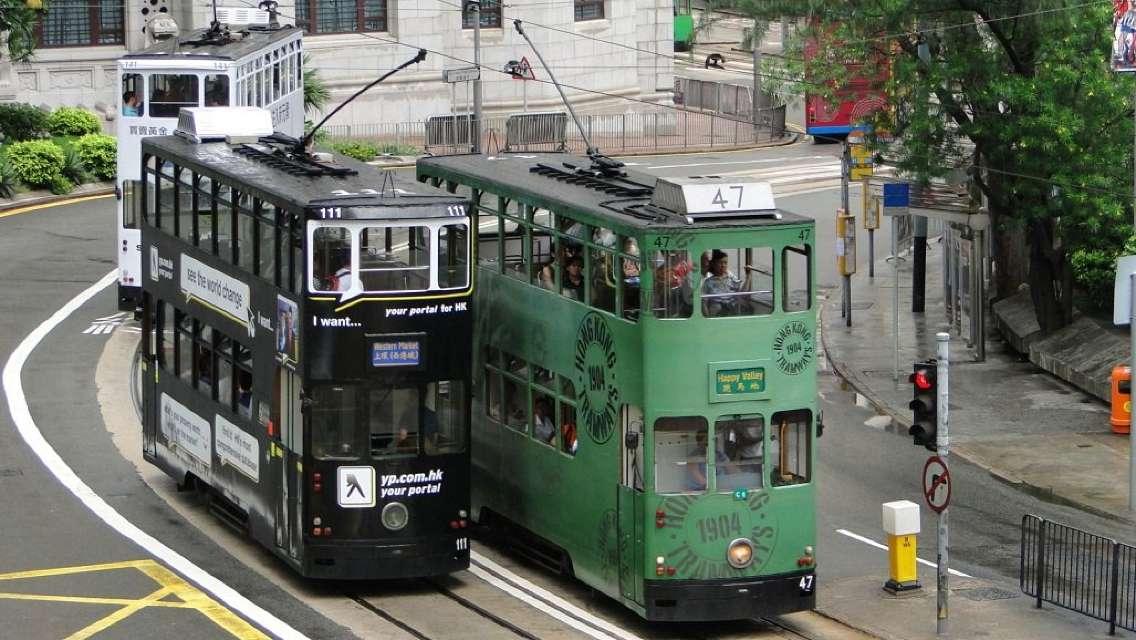 香港電車叮叮車+古迹+姻緣石+港式下午茶一日遊(藏在古迹里的香港)