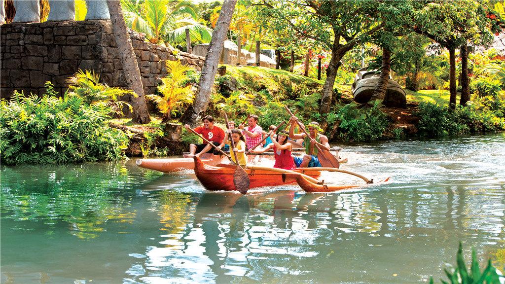 美國夏威夷波利尼西亞文化中心一日遊(可選中文早出發+大型草裙舞盛會+各式晚餐)