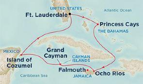 跟团游·西加勒比海巡游+迈阿密(迈阿密、巴哈马、牙买加、开曼群岛、墨西哥)