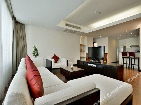 曼谷璀璨服務公寓酒店(Abloom Exclusive Serviced Apartment Bangkok)二臥室高級房