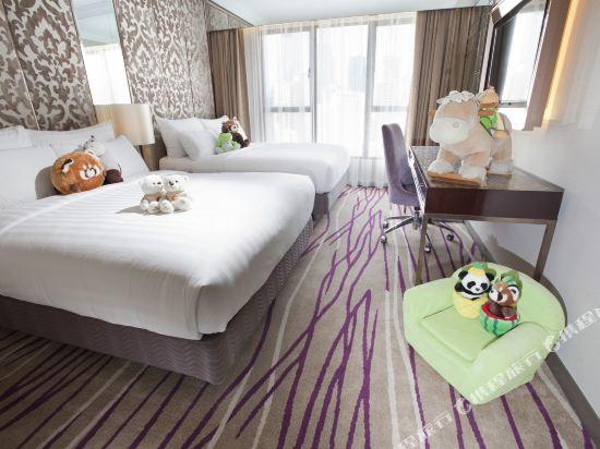 香港灣仔帝盛酒店(Dorsett Wanchai)豪華四人客房(全新裝潢)