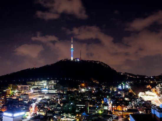 首爾明洞洛伊斯酒店(Loisir Hotel Seoul Myeongdong)眺望遠景