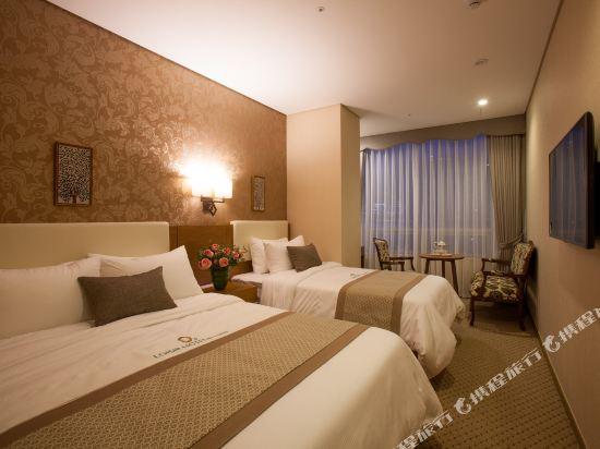 首爾明洞洛伊斯酒店(Loisir Hotel Seoul Myeongdong)高級雙床房 (5)