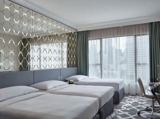 香港灣仔帝盛酒店(Dorsett Wanchai)豪華三人客房(三張單人床)(全新裝潢)