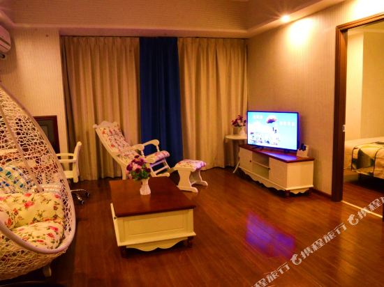 星倫萬達廣場主題公寓(廣州長隆店)(Xinlun Free Hotel International  WanDa)地中海式家庭歡樂套房兩房一廳
