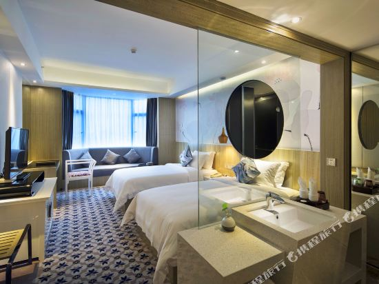 柏高酒店(廣州天河北天平架地鐵站店)(Paco Hotel (Guangzhou Tianhebei Tianpingjia Metro Station))豪華雙床房