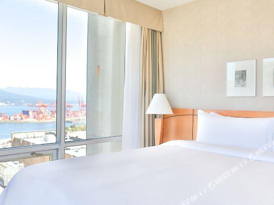 温哥華市中心萬豪德爾塔酒店(Delta Hotels by Marriott Vancouver Downtown Suites)特色俱樂部轉角景觀套房