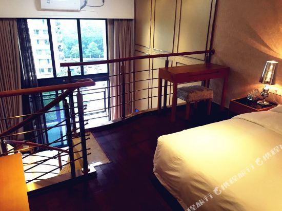 伊蓮·薩維爾國際酒店公寓(廣州珠江新城店)(ELAINE SAVILE HOTEL)複式園景LOFT雙床房