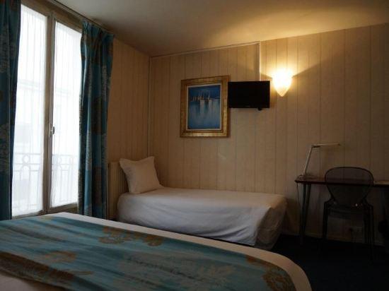 巴黎蒙馬特貝爾維尤酒店(Hôtel Bellevue Montmartre Paris)標準三人房