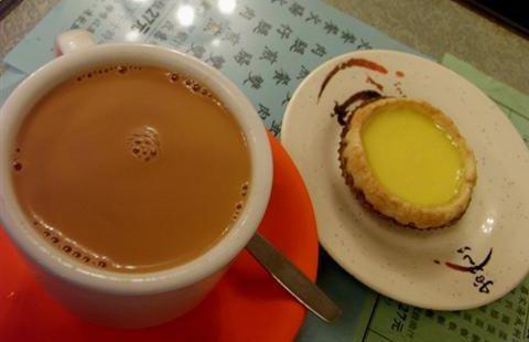 尋客蛋撻奶茶