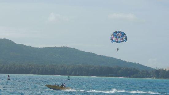 軍艦島海上拖曳傘