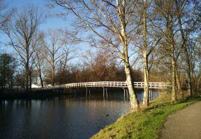 沿著萊茵河三角洲的支流行走到荷蘭贊單的風車村
