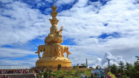 Golden Statue of Puxian on Emei Mountain