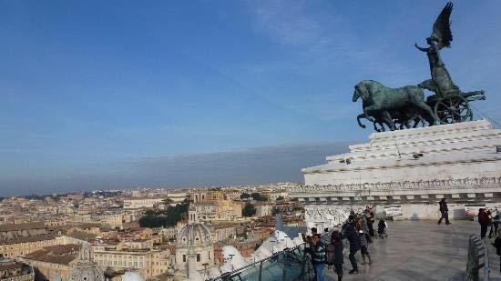 Roma Dal Cielo Terrazza Delle Quadrighe Travel Guidebook