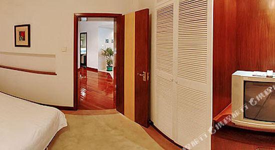 上海奕鄰66酒店(Ten66 Serviced Residences Supercity by Ariva)豪華套房(卧室)