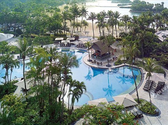 新加坡香格里拉聖淘沙度假酒店(Shangri-La's Rasa Sentosa Resort & Spa)室外游泳池