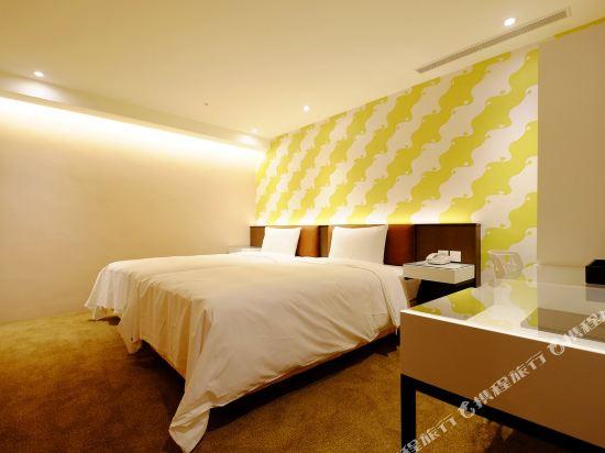 璞漣商旅-台北車站店(Hotel Puri Taipei Station)雙床客房(無窗)