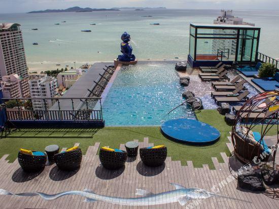 芭堤雅暹羅設計酒店(Siam@Siam Design Hotel Pattaya)院子