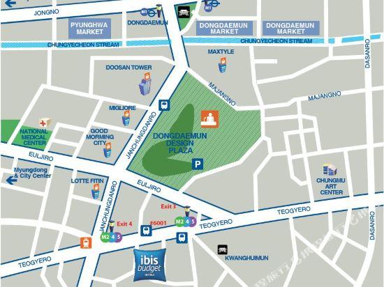 首爾東大門大使宜必思快捷酒店(Ibis Budget Ambassador Seoul Dongdaemun)眺望遠景