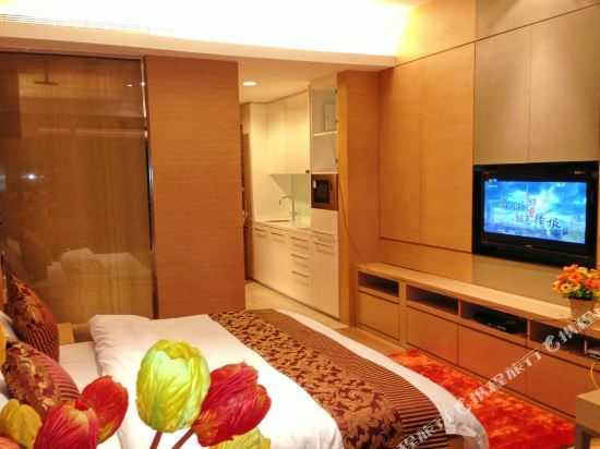 嘻哈商務公寓(廣州琶洲保利世貿店)(Hiphop Business Apartment (Guangzhou Pazhou Baoli Shimao))商務觀景大床房