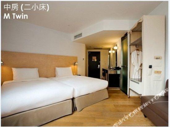 台北西門町意舍(Amba Taipei Ximending)中房雙床房