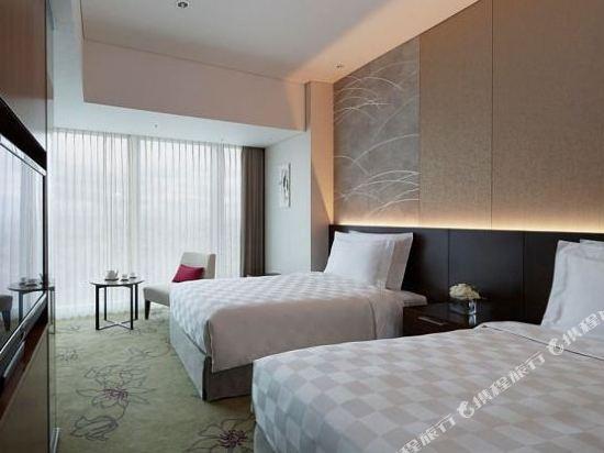 大阪萬豪都酒店(Osaka Marriott Miyako Hotel)高層城景高級雙床房