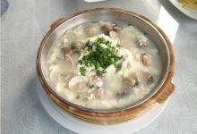 雁荡山美食图片-蛤蜊豆腐汤