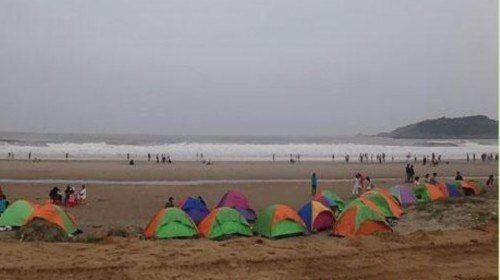 朱家尖海邊露營+篝火燒烤