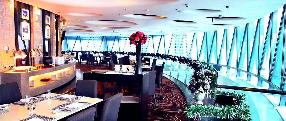 Canton Tower 106th Floor Revolving Mediterranean Restaurant Meal Voucher
